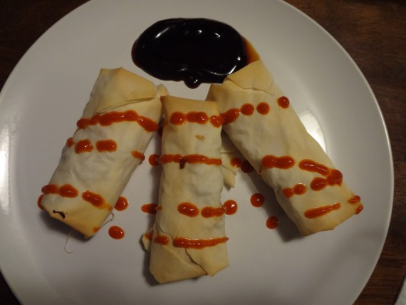 Baked Spring Rolls No Eggs